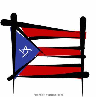 Puerto Rico Brush Flag Cutout