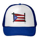 Puerto Rico Brush Flag Hats