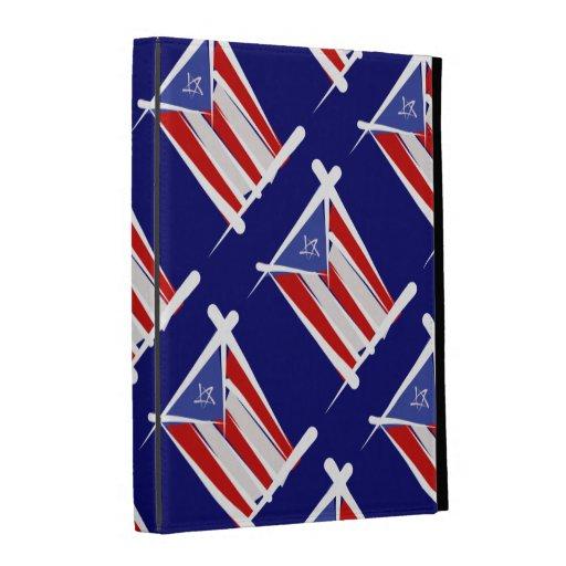 Puerto Rico Brush Flag iPad Folio Cases