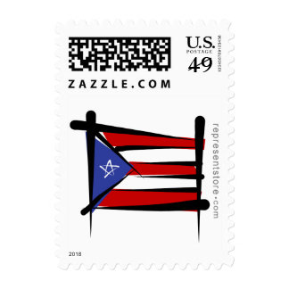 Puerto Rico Brush Flag Stamps