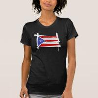 Puerto Rico Brush Flag T-Shirt