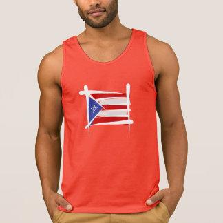 Puerto Rico Brush Flag Tank Top
