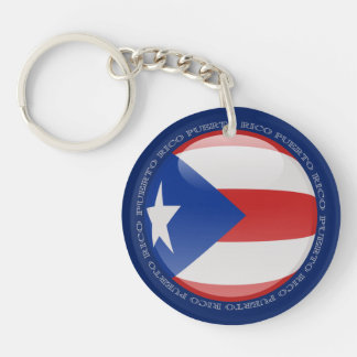 Puerto Rico Bubble Flag Acrylic Key Chain