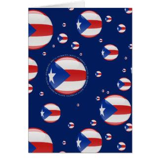 Puerto Rico Bubble Flag Card