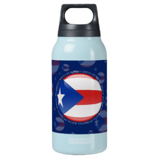 Puerto Rico Bubble Flag Insulated Water Bottle