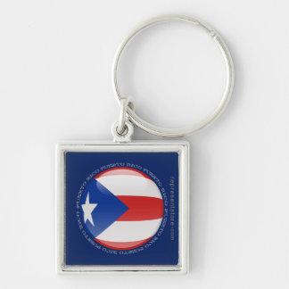 Puerto Rico Bubble Flag Key Chains