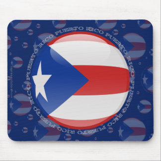 Puerto Rico Bubble Flag Mouse Pad