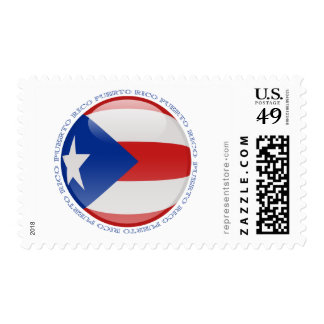 Puerto Rico Bubble Flag Postage Stamp