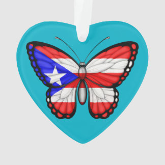 Puerto Rico Butterfly Flag