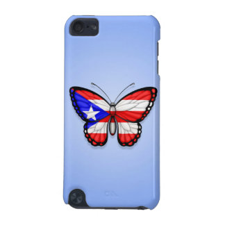 Puerto Rico Butterfly Flag on Blue iPod Touch 5G Case