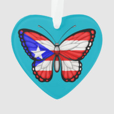 Puerto Rico Butterfly Flag Ornament at Zazzle