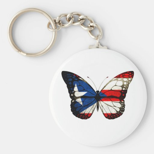 Puerto Rico Butterfly Keychain
