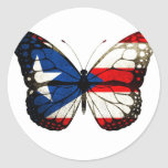 Puerto Rico Butterfly Stickers