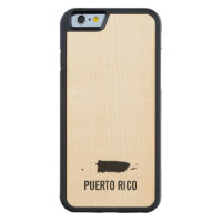 Puerto Rico Carved® Maple iPhone 6 Bumper