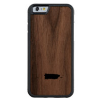 Puerto Rico Carved® Walnut iPhone 6 Bumper Case