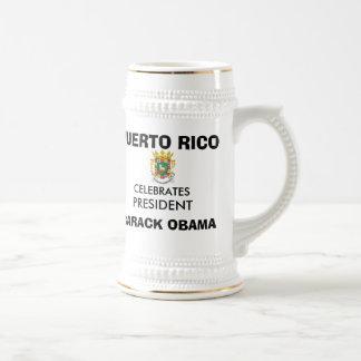 PUERTO RICO Celebrates President OBAMA Keepsakes 18 Oz Beer Stein