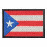 Puerto Rico Chamarra De Deporte Bordada
