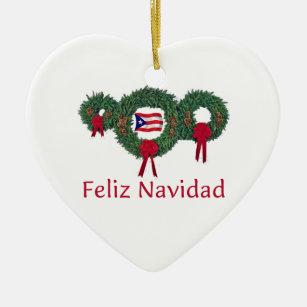 puerto rico christmas 2 ceramic ornament