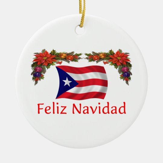Puerto Rico Christmas Ceramic Ornament | Zazzle.com