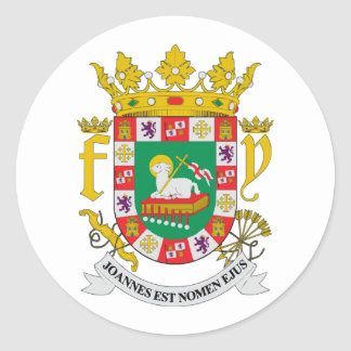 Puerto Rico COA Classic Round Sticker