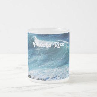 Puerto Rico Coast 10 Oz Frosted Glass Coffee Mug