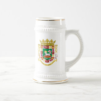 Puerto Rico Coat of Arms Beer Stein