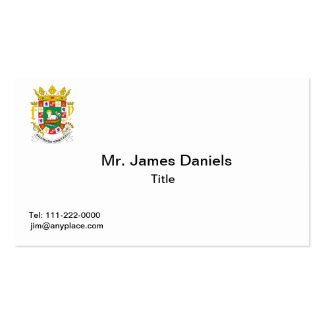 Puerto Rico Coat of Arms  Business Card Templates