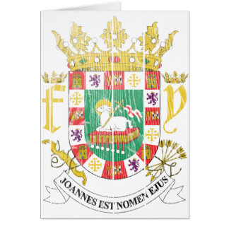Puerto Rico Coat Of Arms Card