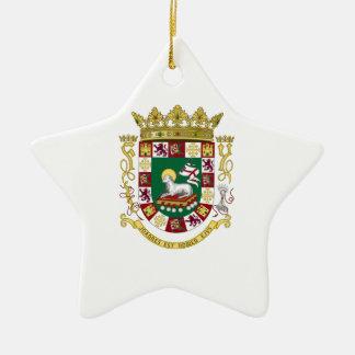 Puerto Rico Coat of Arms Ceramic Ornament