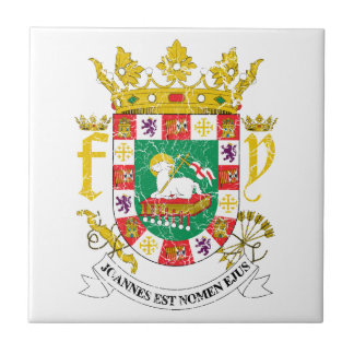 Puerto Rico Coat Of Arms Ceramic Tile