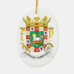 Puerto Rico Coat Of Arms Christmas Tree Ornament