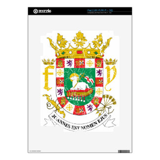 Puerto Rico Coat Of Arms Decal For The iPad 2