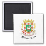 Puerto Rico Coat of Arms detail 2 Inch Square Magnet