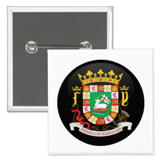 Puerto Rico Coat of Arms detail Pinback Buttons