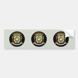 Puerto Rico Coat of Arms detail Car Bumper Sticker