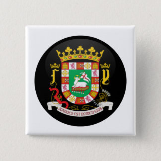 Puerto Rico Coat of Arms detail Pinback Button