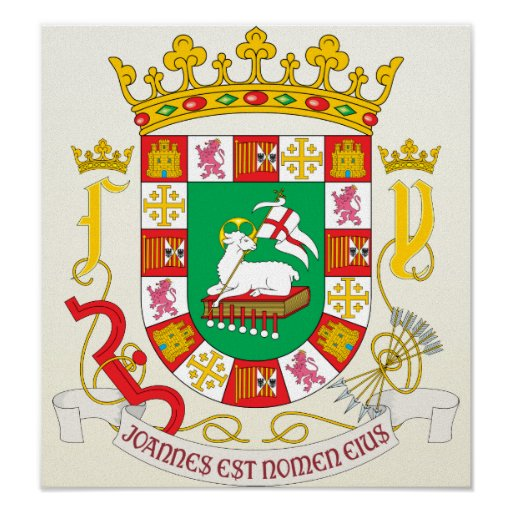 puerto rico coat of arms detail poster zazzle
