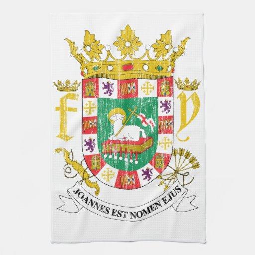puerto rico coat of arms kitchen towel zazzle