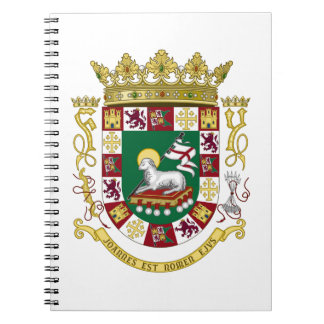 Puerto Rico Coat of Arms Spiral Notebook
