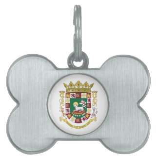 Puerto Rico Coat of Arms Pet Name Tag