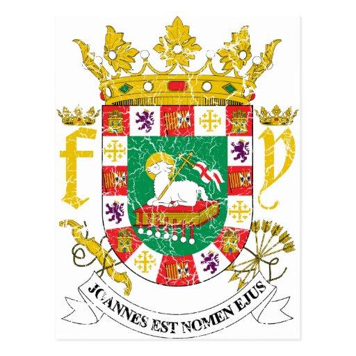 puerto rico coat of arms postcard zazzle