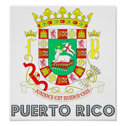 puerto rico coat of arms poster zazzle