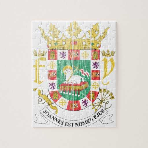Puerto Rico Coat Of Arms Puzzle