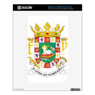 Puerto Rico Coat Of Arms NOOK Color Skin
