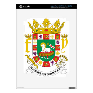 Puerto Rico Coat Of Arms Skins For iPad 3