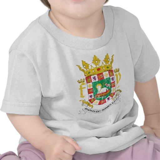 Puerto Rico Coat Of Arms Tee Shirts