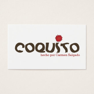 Puerto Rico Coquito Business Card