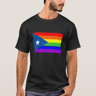 puerto rico country gay proud rainbow flag T-Shirt