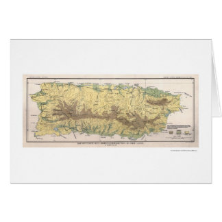 Puerto Rico Crop Map 1899 Greeting Card