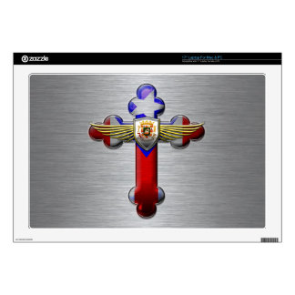 Puerto Rico - Cross & Seal Decal For Laptop